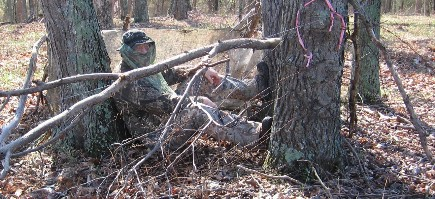 ground blind hunting